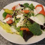 Salad with Vegan Ranch Dressing